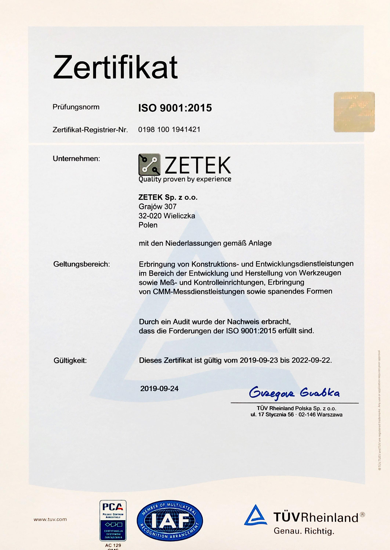 certyfikat ISO 2