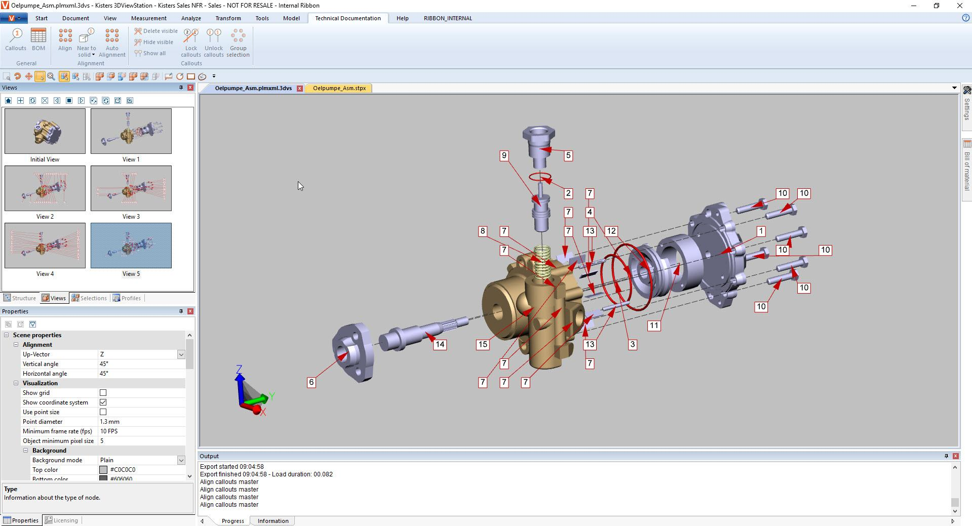 Dokumentacja Techniczna: Komentarze na modelu CAD